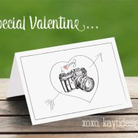 Super cute Valentine's Day greeting card for photographers and photo lovers by our friend @Kayti Designs!