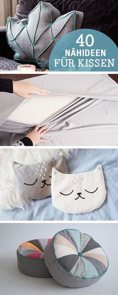 DIY-Anleitungen: 40 Nähideen für Kissen, DIY-Inspiration / diy sewing tutorials for cushion, crafting home decor via DaWanda.com: