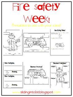 math worksheet : fire safety week with free printable booklet  kid blogger  : Fire Safety Worksheets For Kindergarten