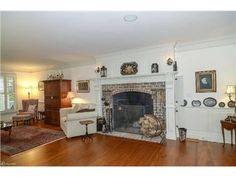 Rumford fireplace and mantel