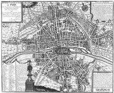 This Paris map, which itself dates to the early 18th century, shows how Paris was developed and expanded between the years 1589 and 1643 under the reign of Henry II and Louis XIII. The present-day area known as the Faubourg Saint-Antoine in the eastern part of the right bank was included among the additions during this time of population growth and increased prosperity in the city of lights.  Bibliotheque Nationale de France/Public Domain.  2h