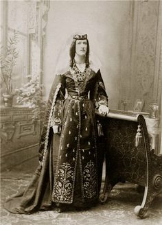 Marjory Wardrop dressed in Georgian national costume