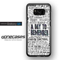 A Day To Remember Lyrics FOR SAMSUNG GALAXY S8 PLUS PLUS CASE