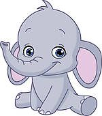 Clip Art of Baby elephant k2860086 - Search Clipart, Illustration Posters, Drawings, and EPS Vector Graphics Images - k2860086.eps