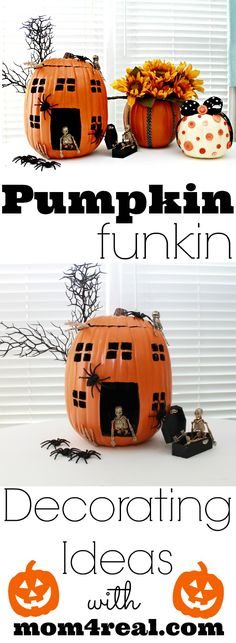 Pumpkin Decorating Ideas by @Jessica Kielman         {Mom 4 Real} #MPumpkins