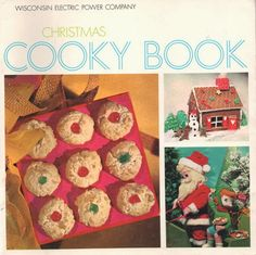 Vintage Christmas Cookbook - plus Star Bright Cookies Recipe Christmas Makes, Christmas Past, Christmas Books, Modern Christmas, Vintage Cookbooks, New Cookbooks, Make A Gingerbread House, Vintage Cookies, Old Fashioned Christmas