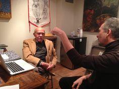 Professor Domicio Coutinho e Alvaro Lima - Biblioteca do Brasil - New York
