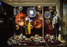 """MULBERRY, Bond Street, london, UK, """"The Year of The Baubles"""", (Concave Baubles), photo by TrendVM, pinned by Ton van der Veer"""