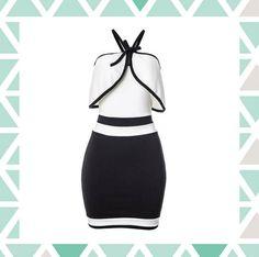 Vestido P&B | Fashion Girl | Feira Shop