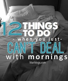 Mornings used to be THE ABSOLUTE WORST, but I've actually started to look forward to them by doing these 12 things (shocker, I know!). This is a must read for anyone who dreads the sun coming up!!