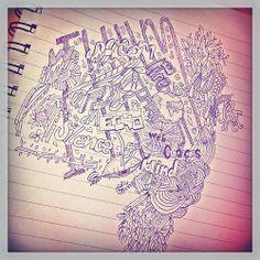 doodles schrift