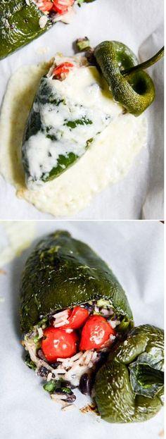 Cheesy Stuffed Poblanos by @how sweet eats I howsweeteats.com