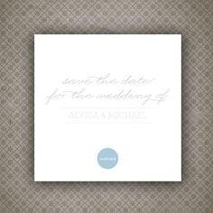 Save the Date Card - Digital Printable - Adore Wedding Range. £15.00, via Etsy.