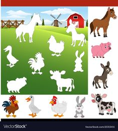 Find The Right Shadow Farm Animals Royalty Free Vector - Find The Right . - Find The Right Shadow Farm Animals Royalty Free Vector – Find The Right Shadow Farm Animals Royal -