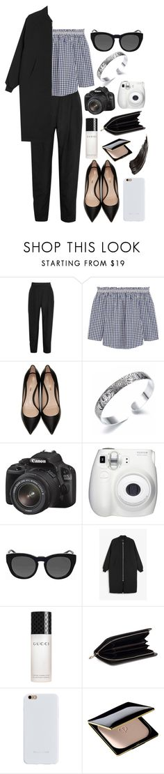 """New"" by mode-222 ❤ liked on Polyvore featuring Carmen March, Madewell, Nicholas Kirkwood, Canon, Fujifilm, Michael Kors, Monki, Gucci, Felony Case and Clé de Peau Beauté"