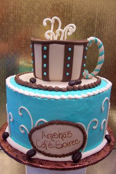 Tiered Coffee Cup Cake