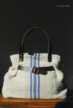 Antique grain sack bag handmade in Italy  https://m.facebook.com/lefeltronelle