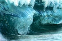 """This phenomenon is caused by a larger wave catching up with a smaller one, creating a stacked effect at beach fall. ~ Miks' Pics """"Waves"""" board @ http://www.pinterest.com/msmgish/waves/"""