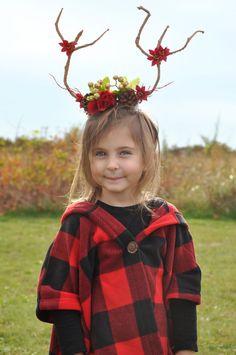 Adult/Child Christmas Fawn Headband by OhSoPrettyDesigns on Etsy fawn headband, deer, reindeer, Christmas photoshoot