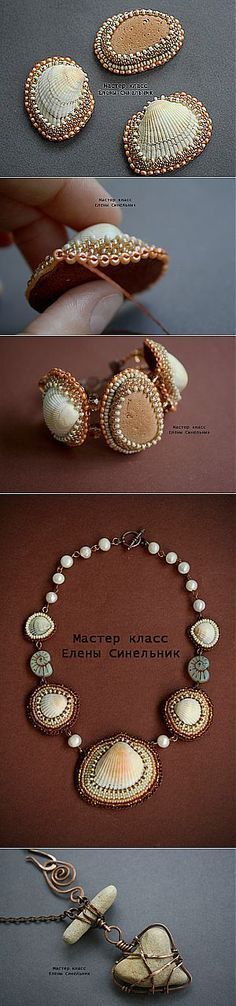 Beaded seashell Jewelry