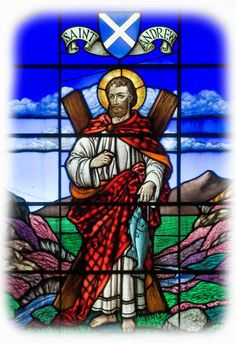 St. Andrew. Patron saint of Scotland and unmarried women.