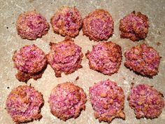 Raspberry and coconut macaroons