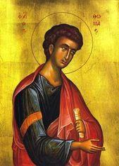 Orthodox icon of Saint Thomas the Apostle.