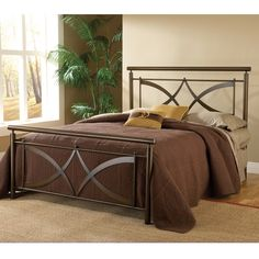Marquette Brushed Copper Bed Set - Overstock™ Shopping - Great Deals on Hillsdale Beds