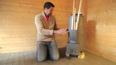 Rocket stove heater for a workshop or a room