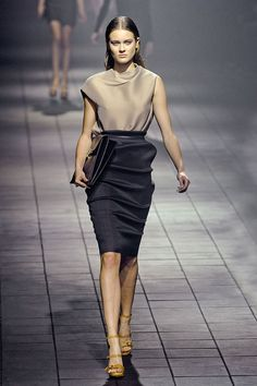 """a runway style that I would actually wear. (after """"fixing"""" the left shoulder to be a cap like the right... but still)"""