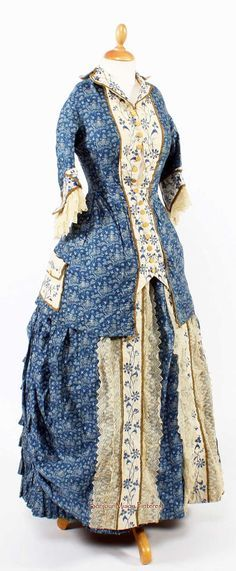 Image result for 1870s calico dress