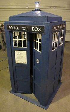 DIY TARDIS. This will be great for storage, because you know, it's bigger on the inside.