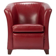 Safavieh Hudson Collection Clara Leather Club Chair, Red
