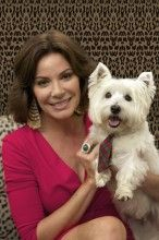 Real Housewives of New York's Countess Luann with her dog, Aston!