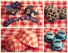 ¡Capacillos temáticos! ¡otra forma de personalizar tus cupcakes y tu combo cumple! #Sports #AnimalPrint #Picnic #Moustache ¿Cuál es tu favorito?   #cupcakes #capacillos #reposteria #calico #patisserie