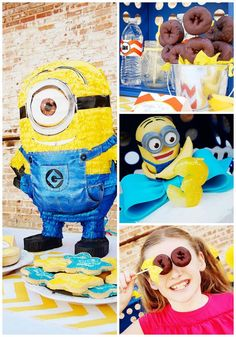 Despicable Me Minion Playdate Party with TONS of ideas via Kara's Party Ideas #minions #Playdate #DespicableMe #PartyIdea #PartyDecorations #supplies #cake #invitation #pinata #cupcakes #food #birthday #partyideas