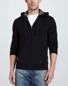 Love the Burberry Brit Fleece Full-Zip Hoodie, Black on Wantering | Wear It Like a Man | mens black hoodie | menswear | mens style | mens fashion | wantering http://www.wantering.com/mens-clothing-item/fleece-full-zip-hoodie-black/aciYu/