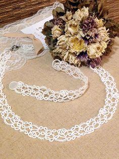 Tatting lace bracelet / necklace pdf pattern Rose