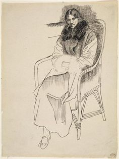 Olga in an Armchair by Pablo Picasso 1919 / Musée Picasso Paris Pablo Picasso Drawings, Art Picasso, Picasso Paintings, Art Drawings, Henri Matisse, Monet, Cubist Movement, Guernica, Figure Sketching