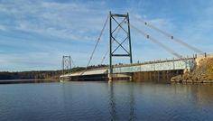 This is Longs Creek bridge just above Mactaquac, New Brunswick