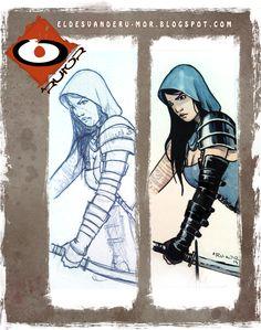 Ilustración dedicatoria hecha por ªRU-MOR para ÉPICA Edades Oscuras, juego de cartas de fantasía medieval