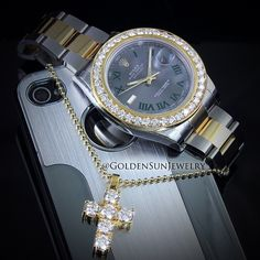 GOLDEN SUN JEWELRY: Keep it casual. Keep it clean. Keep it simple. @goldensunjewelry #goldensunjewelry #rolex #datejust #41mm #rollie #bigfacerollie #russiancut #watch #diamondwatch #luxury #luxury4play #fashion #fashionista #designer #apple #iphone #ilife #swiss #gold #jewelry