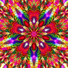 Strawberry Patch Kaleidoscope by Ate My Crayons, via Flickr
