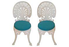 garden chairs greek key design.