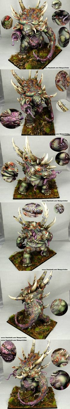 CoolMiniOrNot - Nurgle Chaos The Glottkin by HooY
