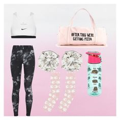 """""""by @ettadance56 dance wear"""" by ettadance56 ❤ liked on Polyvore featuring NIKE, Pusheen and Accessorize"""
