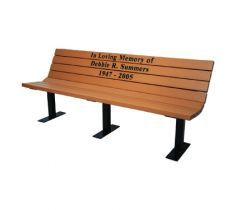 Memorial The Bench Factory By Treetop Products In 2020 Memorial Benches Wooden Bench Outdoor Metal Bench