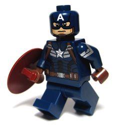 Lego Chris Evans - Captain America (The Winter Solider) Captain America Pictures, Captain America Movie, Lego Custom Minifigures, Lego Minifigs, Lego Spiderman, Lego Dc, Lego Station, Invincible Comic, Micro Lego