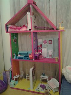 Casa de bonecas - feita em casa ~ ARQUITETANDO IDEIAS