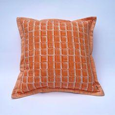 Orange Cushion: Printed with original design 'Inky' image 0